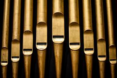 Abstract Pipes from Pipe Organ Royalty Free Stock Images