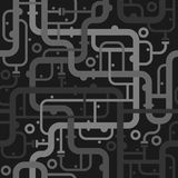 Abstract piping seamless pattern Royalty Free Stock Photography