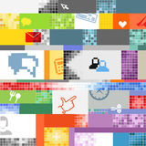 Abstract pixel art royalty free illustration