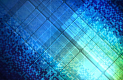 Abstract pixel background on digital screen Stock Images