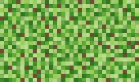 Abstract Pixel Background Illustration. Seamless Green And Brown Squares Background With Shadows. Royalty Free Stock Image