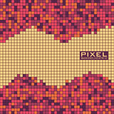 Abstract pixel background with small squares. Vector pattern. Abstract pixel background with small squares. Bright colors. Vector pattern. Modern flat design Stock Illustration