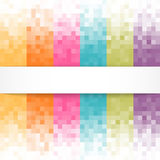 Abstract pixel background with white banner Stock Photos