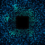 Abstract Pixel Blue - Green Bright Glow Background Royalty Free Stock Image