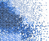 Abstract pixel mosaic vector background. Abstract blue pixel mosaic vector background illustration Royalty Free Stock Photo