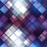 Abstract pixel pattern on blue matrix board. Stock Photography