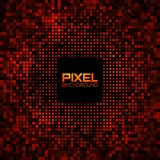 Abstract Pixel Red Bright Glow Background. Royalty Free Stock Photos