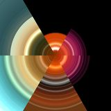 Abstract pixel zoals beeld op zwarte achtergrond Stock Foto