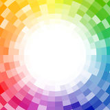 Abstract pixelated color wheel background Royalty Free Stock Image