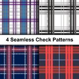 Abstract Plaid Patterns. Beautiful Digital Design royalty free illustration