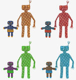 Abstract plaid toy people Royalty Free Stock Photo