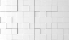 Abstract Plain White Boxes. 3D Rendering Of Abstract Plain White Boxes Top Empty Space Stock Photography