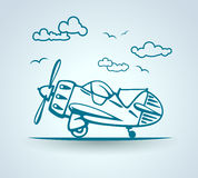 Abstract plane, stylization, vector Stock Photo