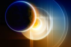 Abstract planet backup on big hard disk Royalty Free Stock Photo