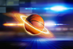 Abstract planet basketball Stock Photo