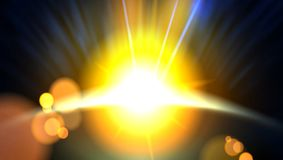 Abstract Planet Beautiful Sun Rays Of Light Buckground stock photography