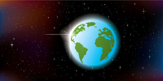 Abstract planet Earth Royalty Free Stock Photography