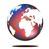 Abstract Planet earth. On white background Royalty Free Stock Photography