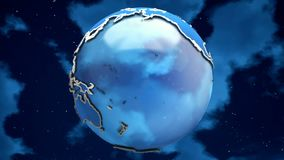 Abstract Planet Earth on the clouds background. Looping. HD Abstract Planet Earth on the clouds background. Looping stock video footage
