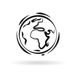 Abstract planet earth icon isolated on white background. Vector Stock Photography