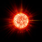 Abstract planet explosion vector illustration