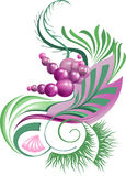 Abstract plant with berries. In gentle pastel colors Royalty Free Stock Images