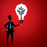 Plant in bulb Stock Image