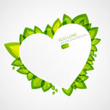 Abstract plant icon with heart element Stock Photos