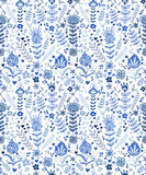 Abstract plants doodles pattern Stock Photography
