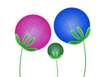 Abstract plants-globes. Three abstract plants of globes Royalty Free Stock Photos