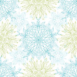 Abstract plants mandalas seamless pattern Stock Images