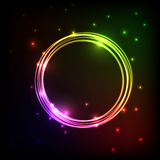 Abstract plasma background with colorful circles Royalty Free Stock Images
