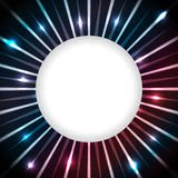 Abstract plasma bursting with white space Stock Photo