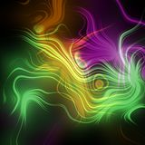 Abstract plasma discharge as a background. Psychedelic color image. Royalty Free Stock Photo