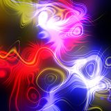 Abstract plasma discharge as a background. Psychedelic color image. Royalty Free Stock Images