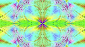 Abstract plastic colorful star/flower background with an interchanging wavy decorative pattern of rays and beams in bright pastel stock video