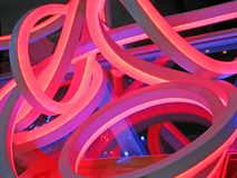 Abstract plastic tube construction, power details, Stock Photography