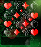 The  abstract play card background Stock Image
