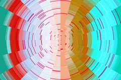 Abstract playful circular lines, hypnotic design. Abstract vivid playful circular lines in pink, golden and phosphorescent hues and colors. Hypnotic design Royalty Free Stock Photography