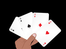 Abstract playing card background Stock Photo