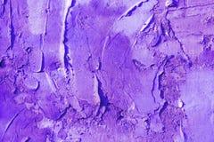 Abstract pleister als achtergrond die op de muur, in ultraviolette kleur wordt geschilderd Royalty-vrije Stock Afbeelding