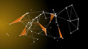 Abstract Plexus Fragments 13. Abstract background with network and different colors stock footage