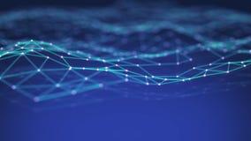 Technology network background stock illustration