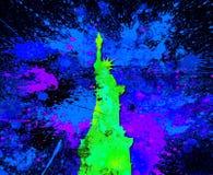 Abstract Plonsstandbeeld van Liberty Painting - Acryl bij Canvas het Schilderen vector illustratie