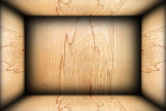 Abstract plywood finished interior background Royalty Free Stock Image