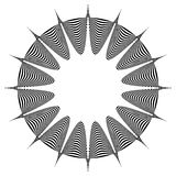 Abstract pointed element. Pointed, spiky shape blending into a circle. Geometric artistic element - Royalty free vector illustration stock illustration