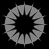 Abstract pointed element. Pointed, spiky shape blending into a circle. Geometric artistic element - Royalty free vector illustration royalty free illustration