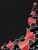 Abstract poker suits background Stock Image