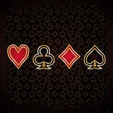 Abstract Poker wallpaper Stock Image