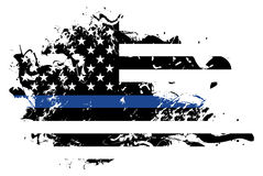 Abstract Police Support Flag Illustration Stock Photos